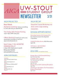 Newsletter 3-31